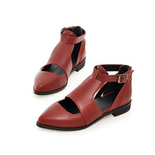 Load image into Gallery viewer, Pointed Toe Women Wedges Buckle Platform Shoes