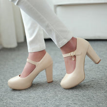 Load image into Gallery viewer, Sweet Princess High Heel Round Head Platform Pumps