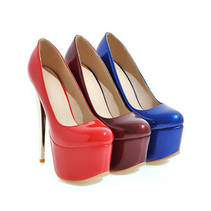 Super Stiletto Heel Club Platform Pumps