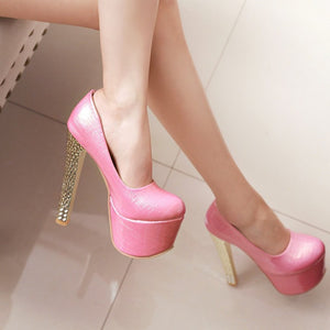 Super High Heel Club Platform Pumps