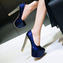 Load image into Gallery viewer, Super High Heel Club Platform Pumps