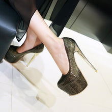 Load image into Gallery viewer, Sexy Nightclub Platform Pumps Stiletto High Heels