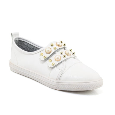 Women's Loafers White Flats Shoes