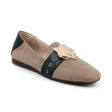Women's Loafers Metal Decorative Flats Shoes