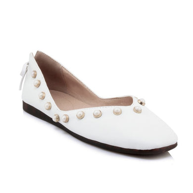 Women's Loafers Pearl Flats Shoes