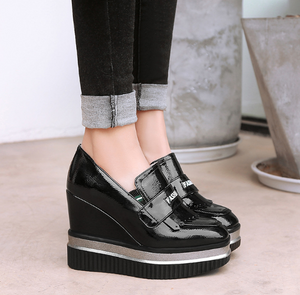 Casual Wedges Platform Loafers Shoes Woman