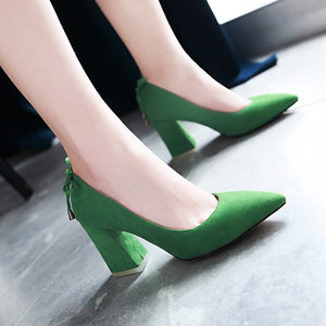 Pointed Toe Women High Heel Pumps