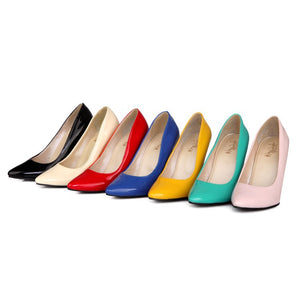 Shallow Mouth Ultra High Heel Pointed Toe Pumps