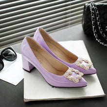 Load image into Gallery viewer, Pointed Toe High Heel Women Block Heels Pumps