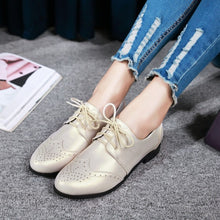 Load image into Gallery viewer, Women's Lace Up Low Heels Oxford Shoes