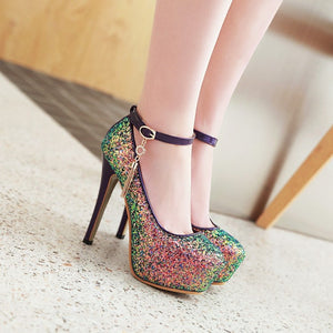 Sexy Nightclub Super High Heels Platform Pumps Wedding Shoes