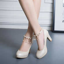 Load image into Gallery viewer, Ankle Strap High Heel Platform Pumps