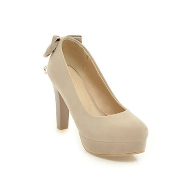 Women's Platform Bride Single Shoe High Heel Chunky Pumps