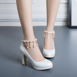 Ankle Strap High Heel Platform Pumps