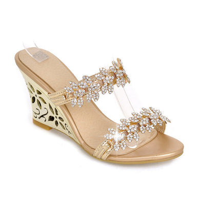 Women's Rhinestone Wedge Sandals