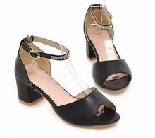 Load image into Gallery viewer, Women Sandals Platform Pumps High Heels Shoes Ankle Straps 5760