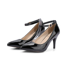 Load image into Gallery viewer, Pointed Toe Patent Leather High Heel Pumps
