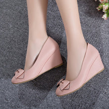 Load image into Gallery viewer, Sweet Bow Wedges Shoes Women Heels Pumps