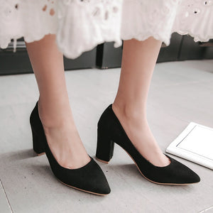 Women's Pumps Suede High Heels
