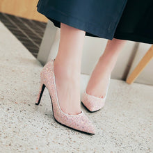 Load image into Gallery viewer, Stiletto Heel Super High Heel Shallow Mouth Wedding Shoes Women Pumps