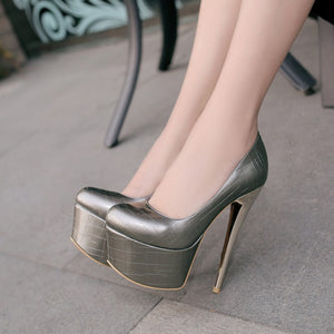 Sexy Nightclub Super High Heel Platform Pumps