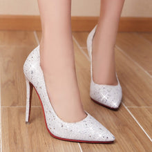 Load image into Gallery viewer, Sexy Super High Heel Sequins Stiletto Wedding Shoes