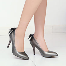 Load image into Gallery viewer, Bow Tie Super High Heel Women Pumps