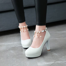 Load image into Gallery viewer, Buckle Belt Platform Pumps Ankle Strap High Heels