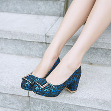 Load image into Gallery viewer, Women's Pumps High Heel Sequins Wedding Shoes