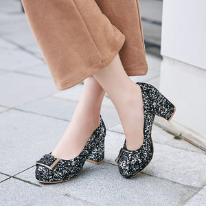 Women's Pumps High Heel Sequins Wedding Shoes