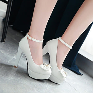 Women's Pumps High-heeled Sweet Butterfly Knot