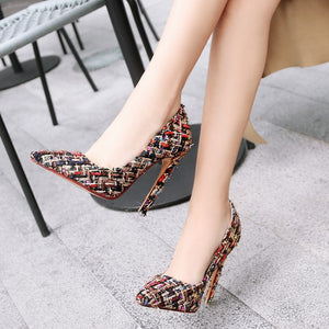 Ultra-high Heel Pointed Toe Pumps
