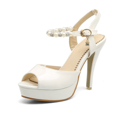 Women's High Heel Ankle Strap Stiletto Heel Platform Sandals