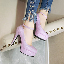 Load image into Gallery viewer, Ankle Strap Super High Heel Platform Women Pumps