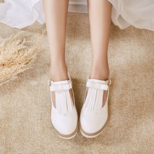 Load image into Gallery viewer, Academic Style Leisure Tassel Princess Chunky Heels Shoes
