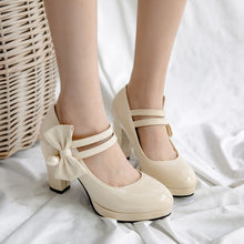 Load image into Gallery viewer, Sweet Butterfly Knot High Heel Platform Pumps