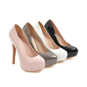 Sexy Ultra-high Heel Thin-heeled Platform Shallow Mouth Pumps