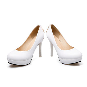 Super High Heel Platform Pumps