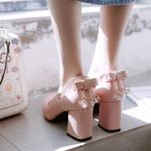 Load image into Gallery viewer, Pointed Toe High-heeled Bow Women Pumps