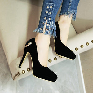 Bridal Shoes Sexy Thin Heel Super High Heel Women Pumps