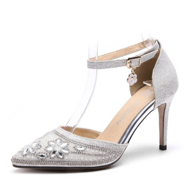 Women's High Heel Pointed Toe Toe Rhinestone Stiletto Heel Sandals