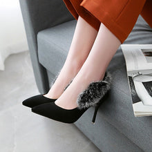 Load image into Gallery viewer, Pointed Toe High Heel Thin Heel Shallow Mouth Sexy Suede Women Pumps
