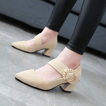 Load image into Gallery viewer, Pearl High Heels Shallow Toe Women Pumps