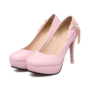 Super High Heel Tassel Platform Women Pumps