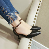 Ankle Strap Mid Heel Sandals Summer Shoes 8655