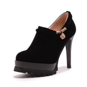 Sexy Ultra-high Heel Platform Suede Shoes