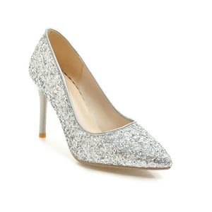Stiletto Heel Bridal Shoes Pointed Toe Women Pumps
