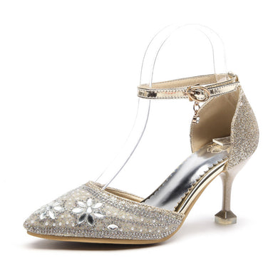 Women's High Heel Bride Rhinestone Stiletto Heel Sandals