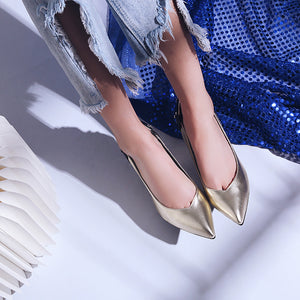 Super High Heel Rhinestone Pointed Toe Women Pumps