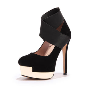 Super High Heel Nightclub Patform Pumps
